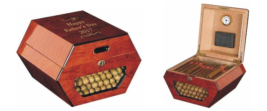 Personalized Cuban Wheel Humidor