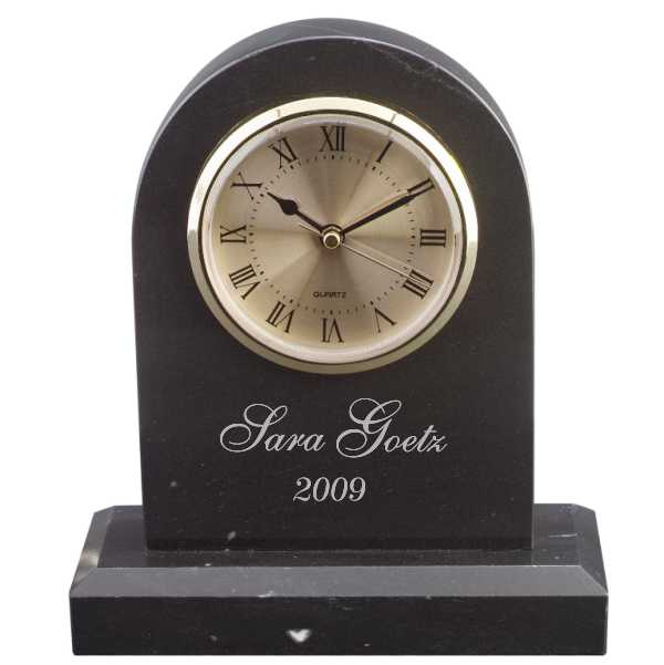 Personalized Engraved Marble Clock