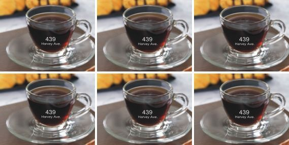 Engraved Glass Espresso Cup and Saucer