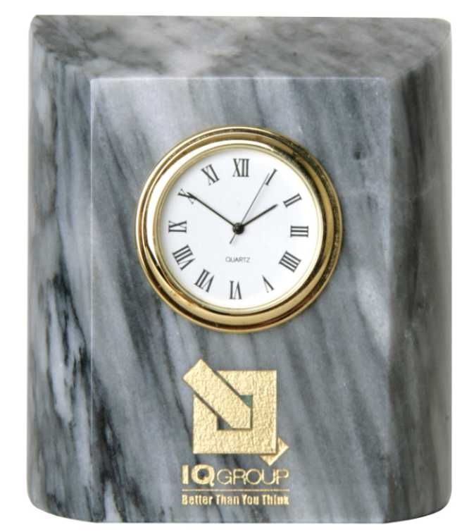 Engraved Marble Clock