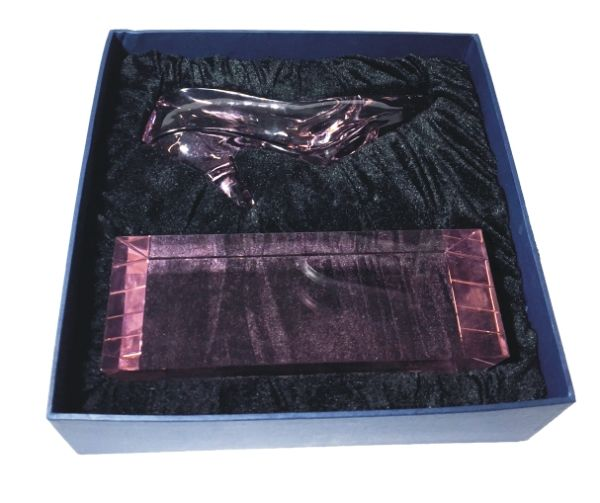 Engraved Pink Slipper Award in Gift Box