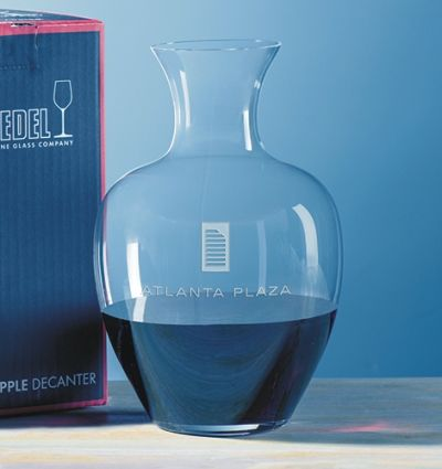Engraved Apple Riedel Decanter