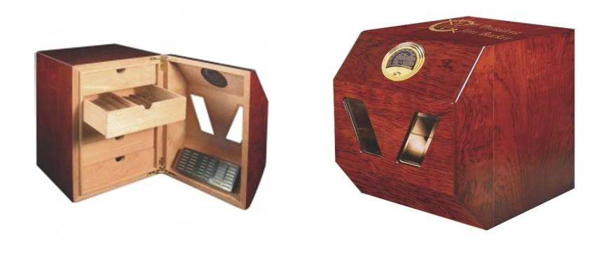 Personalized Cigar Humidor with 5 Drawers