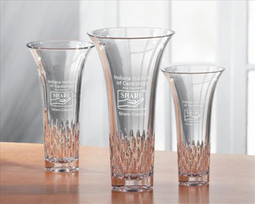 Personalized Engraved Vases Deep Etched Crystal Glass Vases