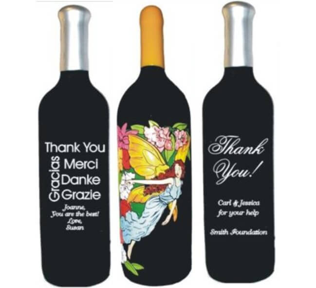 Thank You Wine Bottles Personalized & Engraved