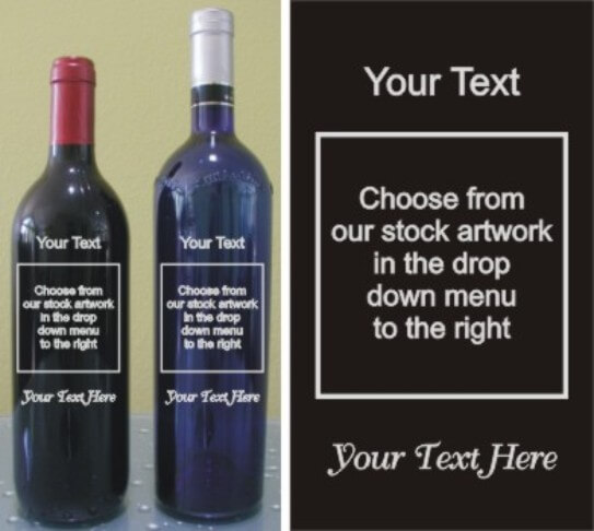 Design your Own Engraved Wine Bottle