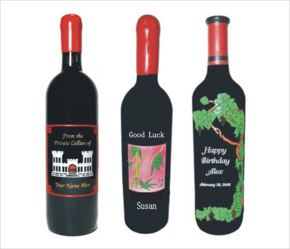 personalized engraved wine bottles