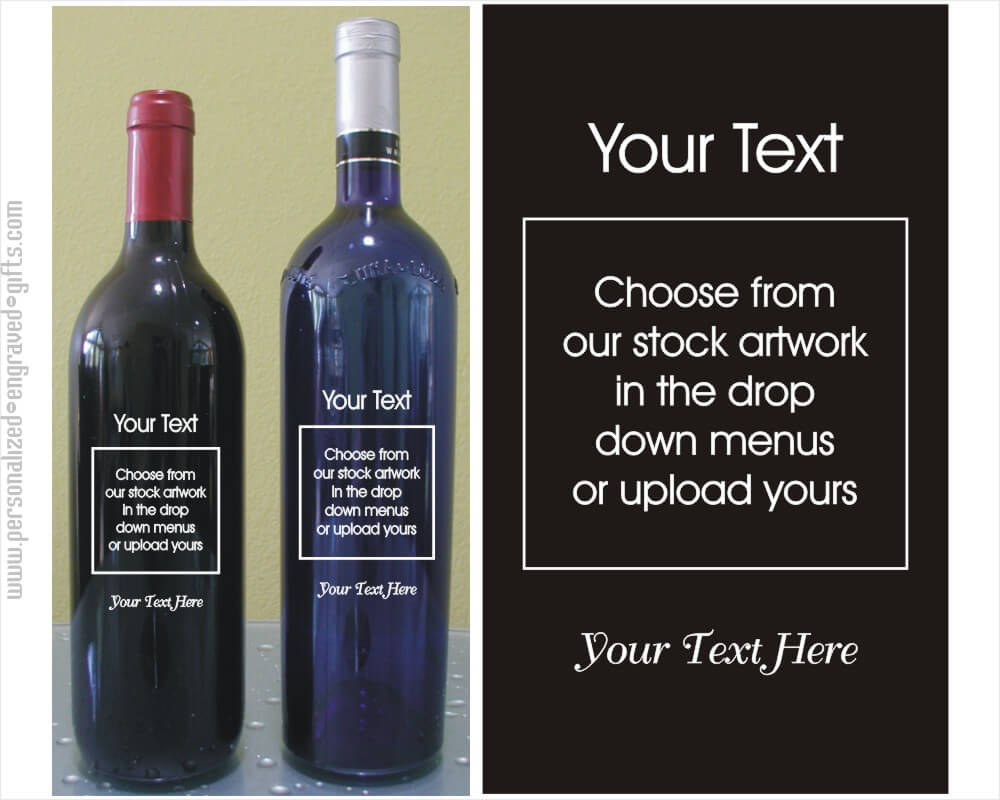 Build Your Own Engraved Wine Bottled Wine Bottles