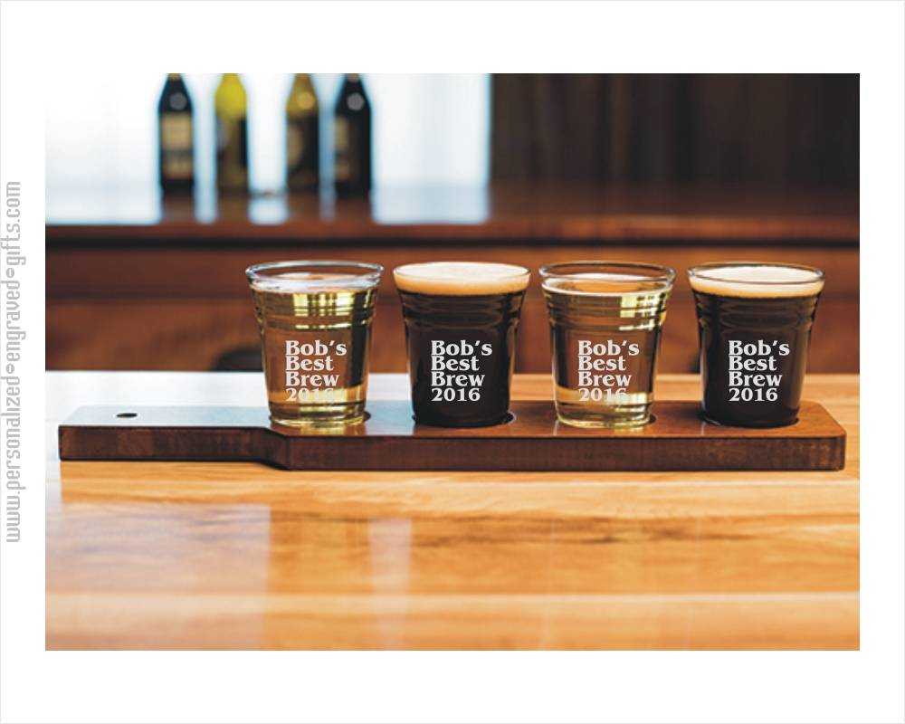 Personalized Beer Tasting Gift Set With Serving Board