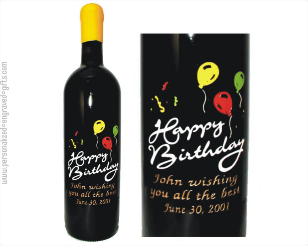 Engraved Wine Bottles Balloons