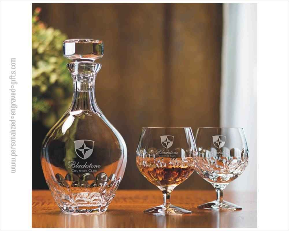 Personalized Crystal Brandy Decanter And Snifter Set