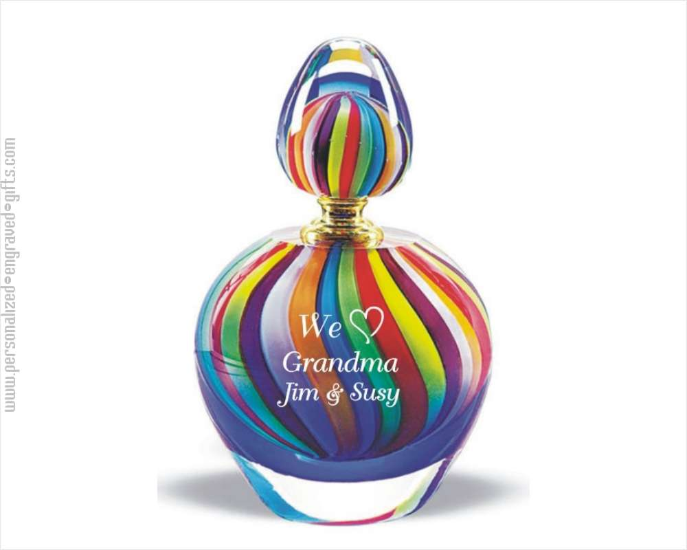 Engraved Perfume Bottles Rainbow