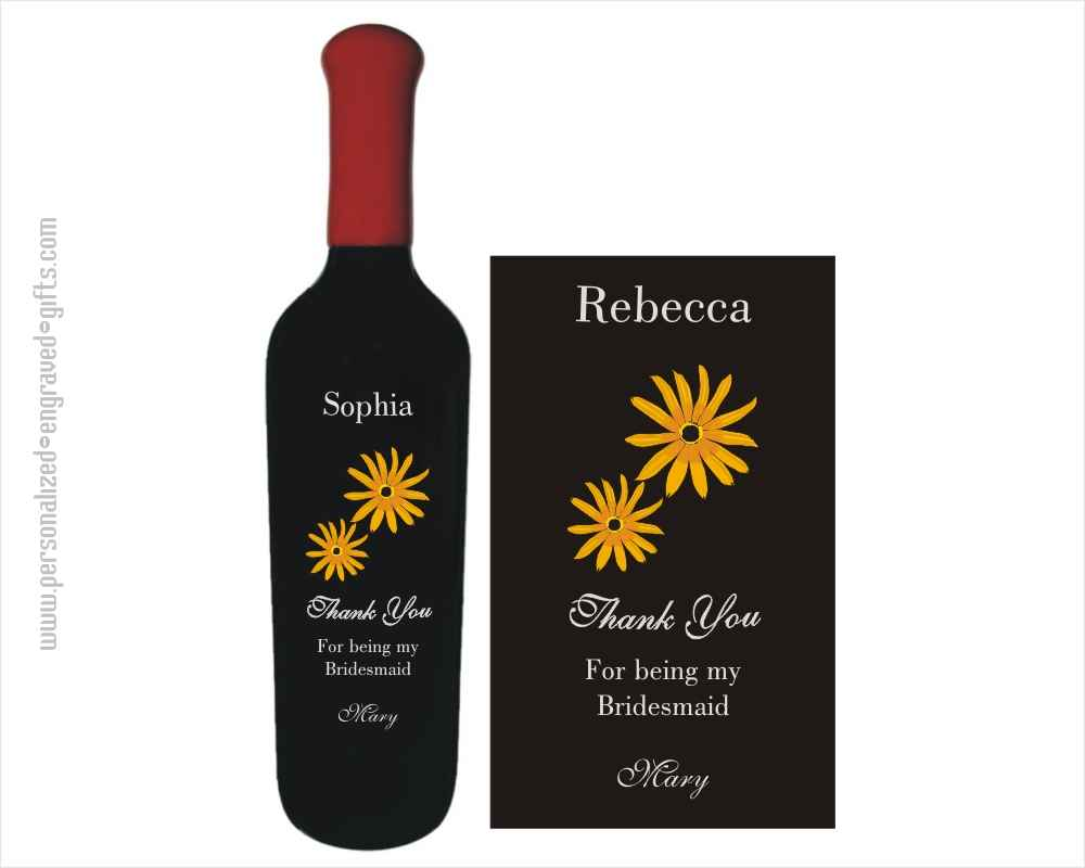 Thank You Bridesmaid Personalized Wine Bottles