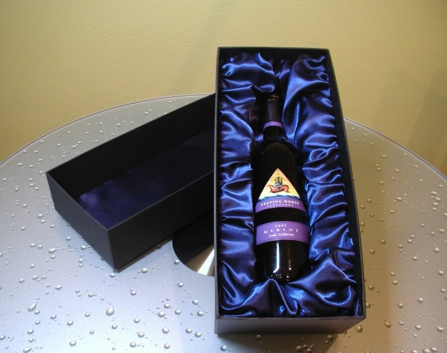 Deluxe Single Wine Bottle Gift Box