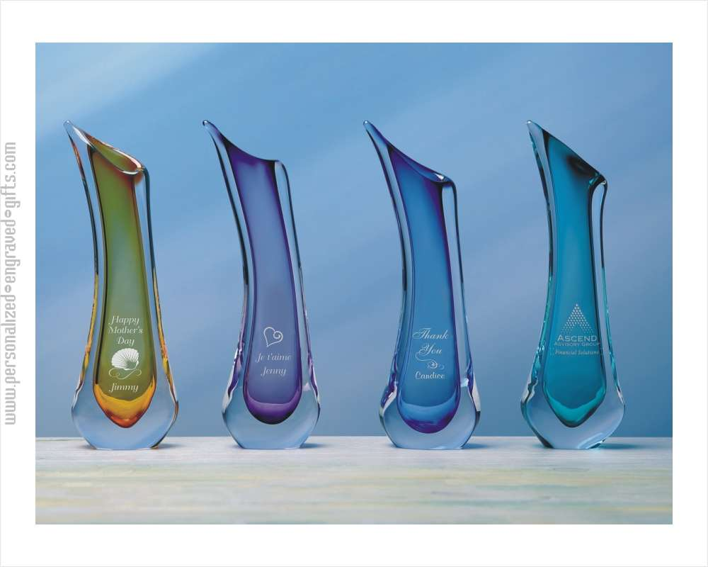 Colorful Contemporary Artistic Glass Vases