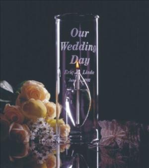 Engraved Glass 12inch Aria Chimney Candle