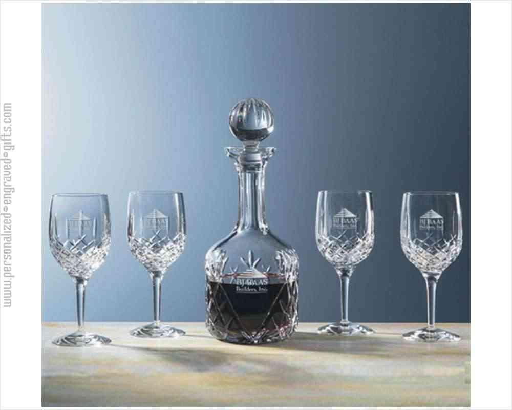 24 Hand Cut Crystal Wine Decanter Set The Lokey