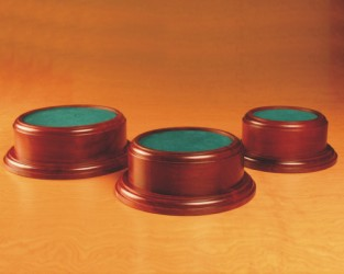 Engraved Rosewood Round Bases