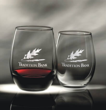 Engravable Stemless Wine Glasses The Vanguard Set of 2