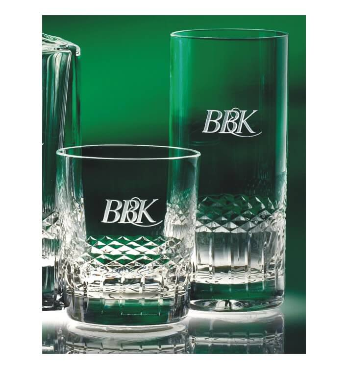 Hand Cut Crystal Whiskey HiBall Glasses - The Singular