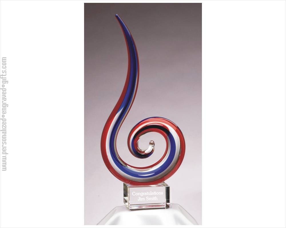 Red, White & Blue Engraved Award