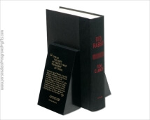 Black Marble Tapered Bookends Personalized with your Favorite Quote