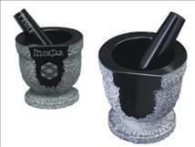 Engraved Black Marble and Pestle Award