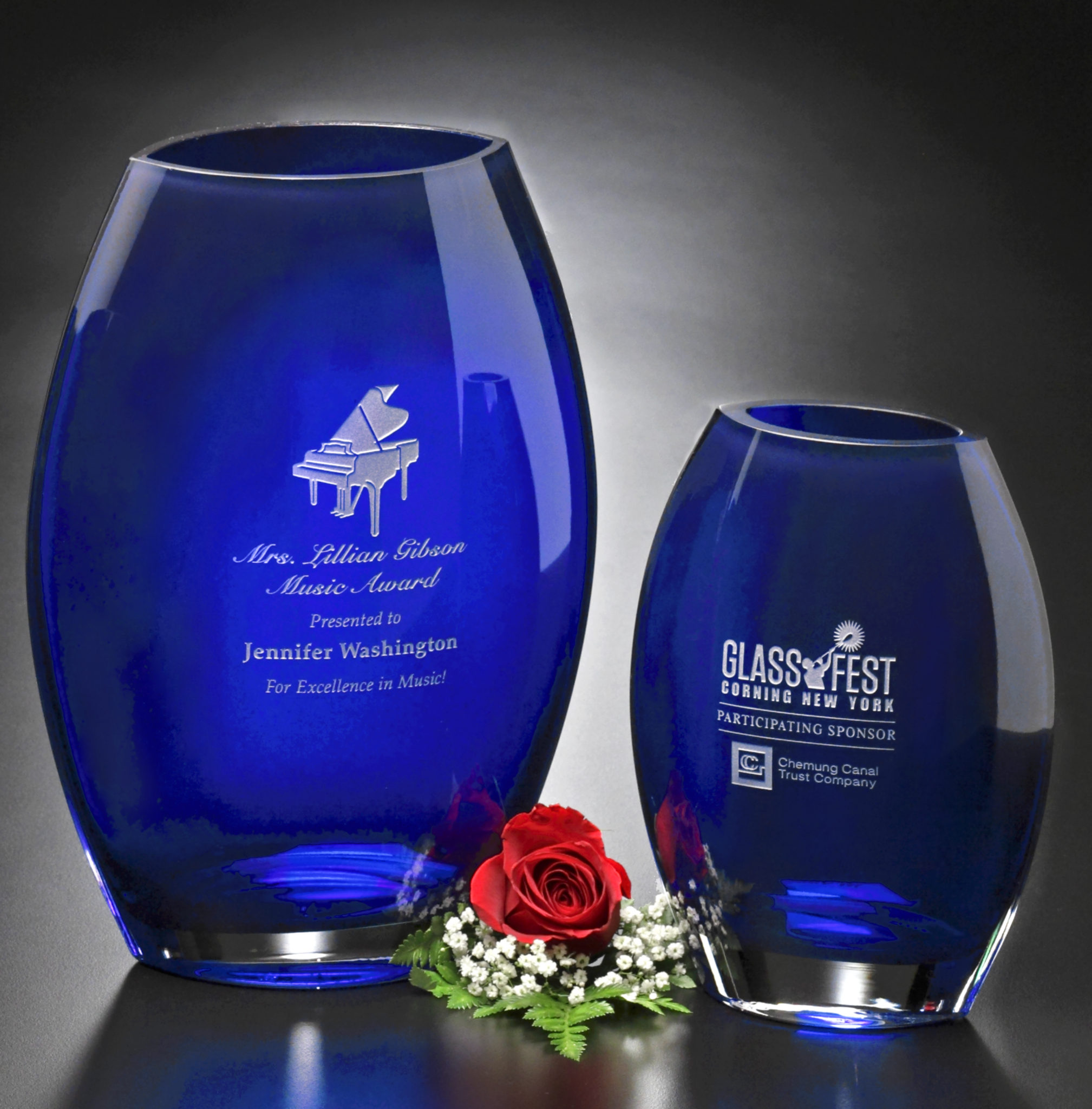 Eye-Catching Cobalt Blue Vases in 3 Sizes