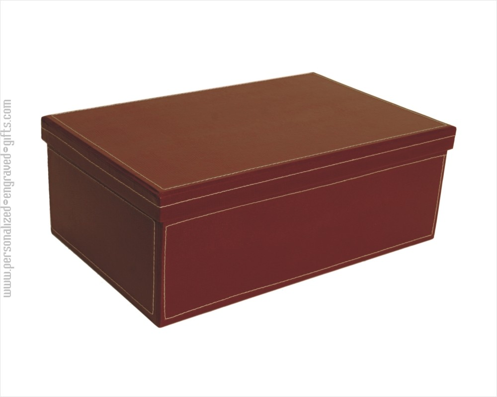 Burgundy Embossed Presentation Gift Box