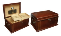 French Antique Walnut Humidor Barrister