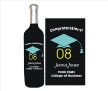 Graduation Keepsake Gift, Graduation Cap & Year Deep Engraved into a Wine Bottle
