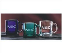 Glass Coffee Mugs Engraved with Custom Logos or Artwork