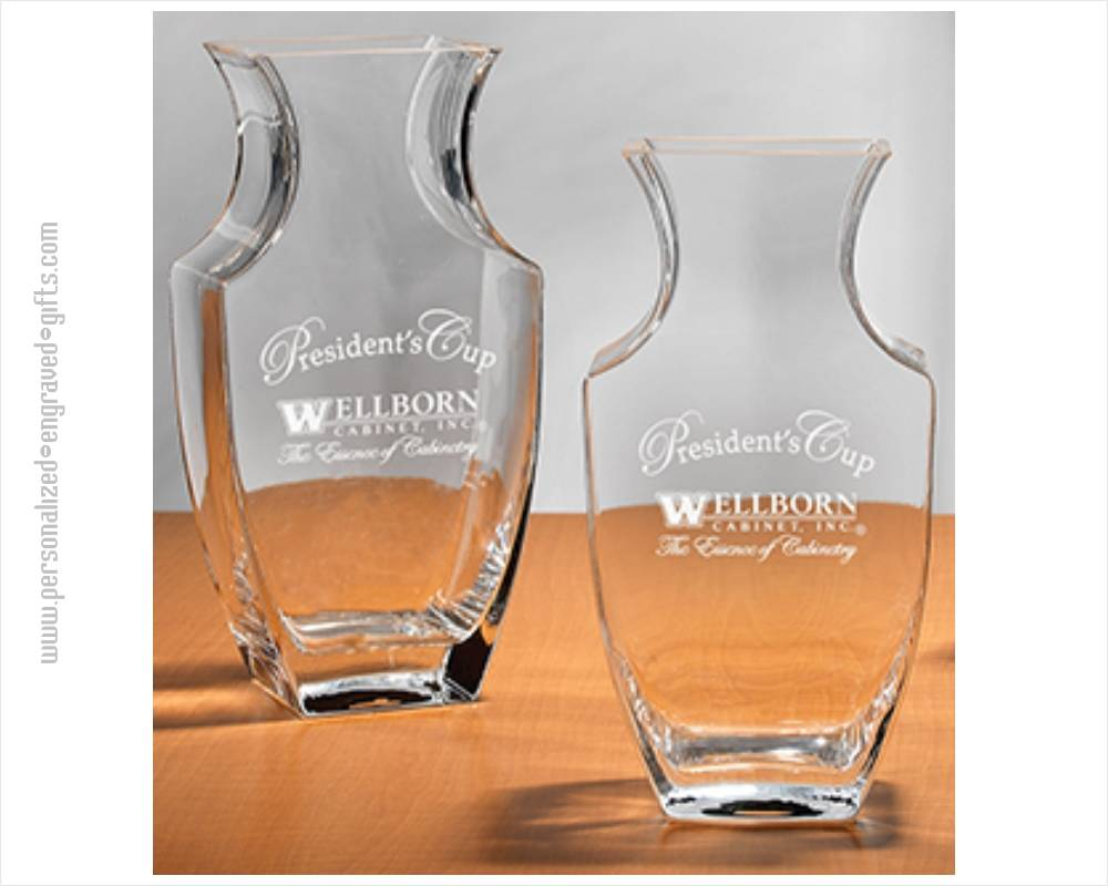 Crystal Personalized Trophy Vases