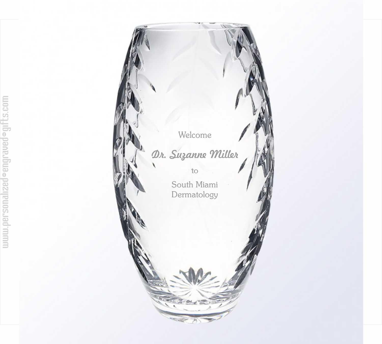 Lead Crystal Vase with Bevel Cuts The Olite
