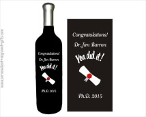 Congratulate the University Graduate with a Diploma Engraved into a Wine Bottle