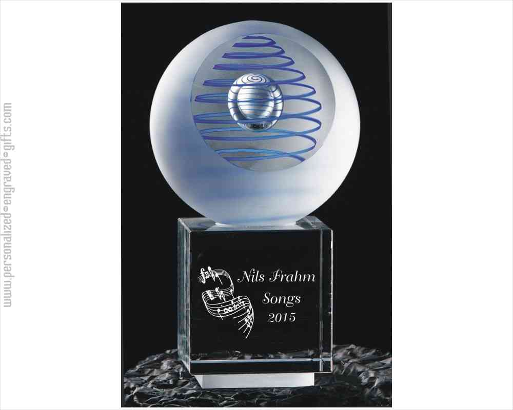 Geocentric Engraved Art Glass Award