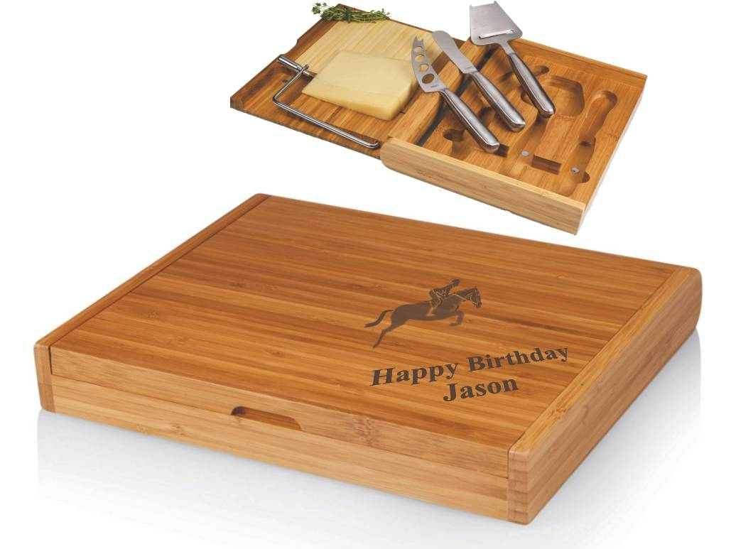 Soiree Bamboo Cheese Board - Laser Engraved