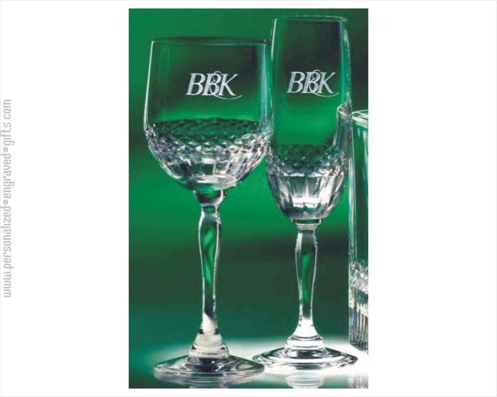 Engraved Lead Crystal Wine Glasses & Flutes Singular