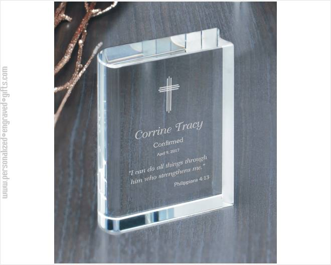 A Crystal Bible Custom Engraved for You