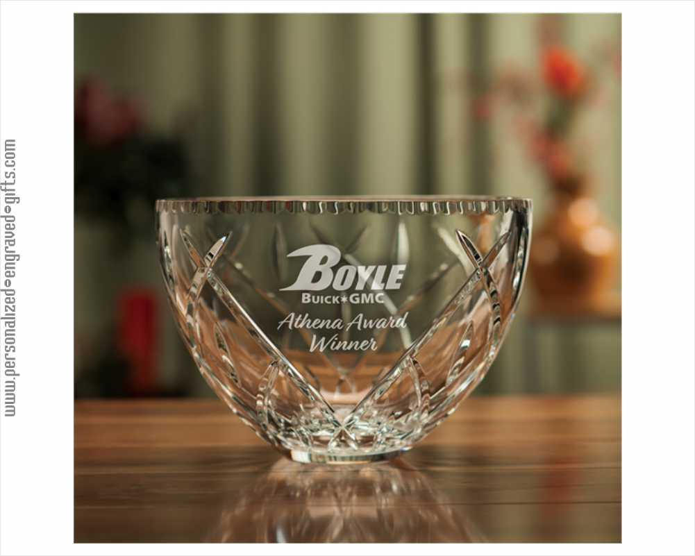 An Elegant Birthday Gift a Crystal Bowl with Deep Cuts