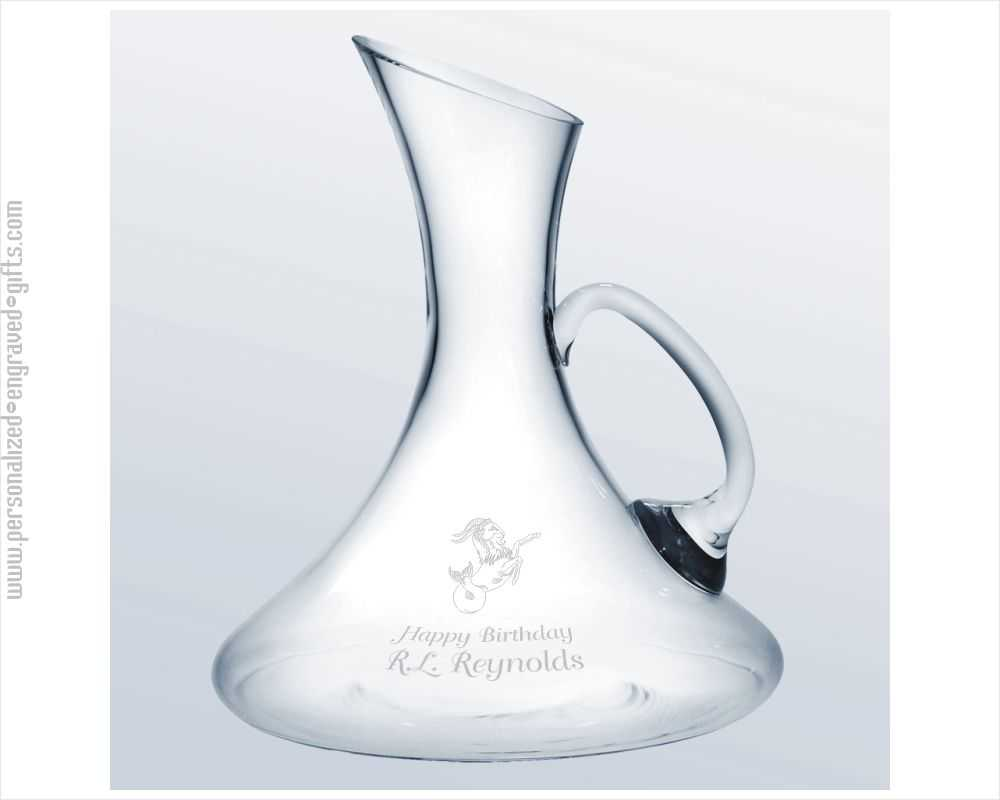 European Crystal Decanter with Easy Pour Handle -  Arlo