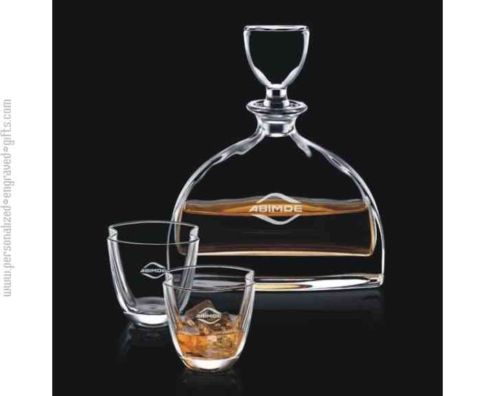 Personalized Engraved Decanter Scottish Estate Set