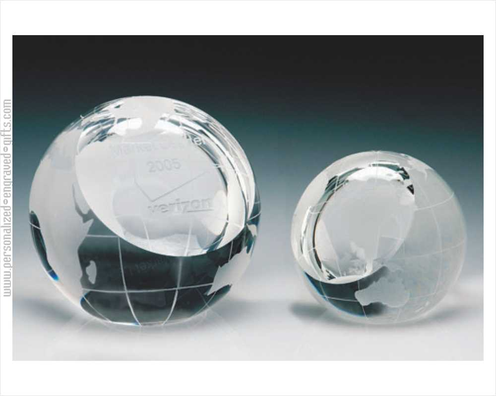 Globe Sphere Engraved Paperweights