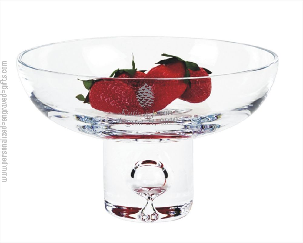 Personalized Centerpiece Bowl with Delightful Bubble Pedestal - Malory