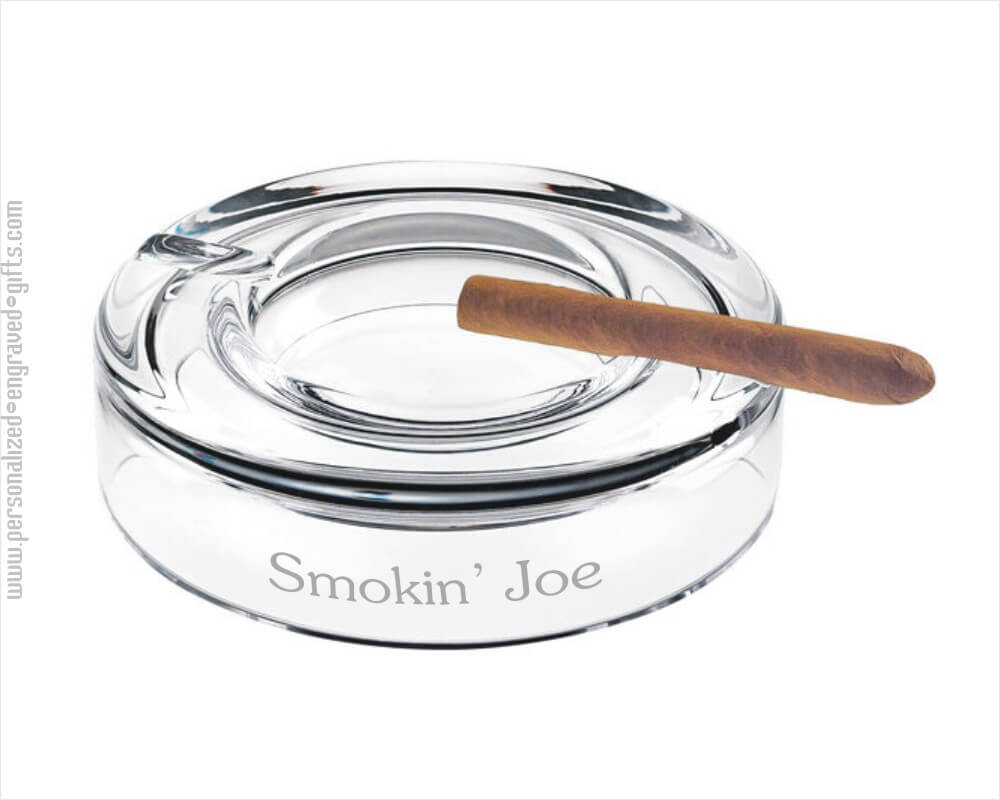 Crystal 8inch Round Cigar Ashtray Customized for You-Corona
