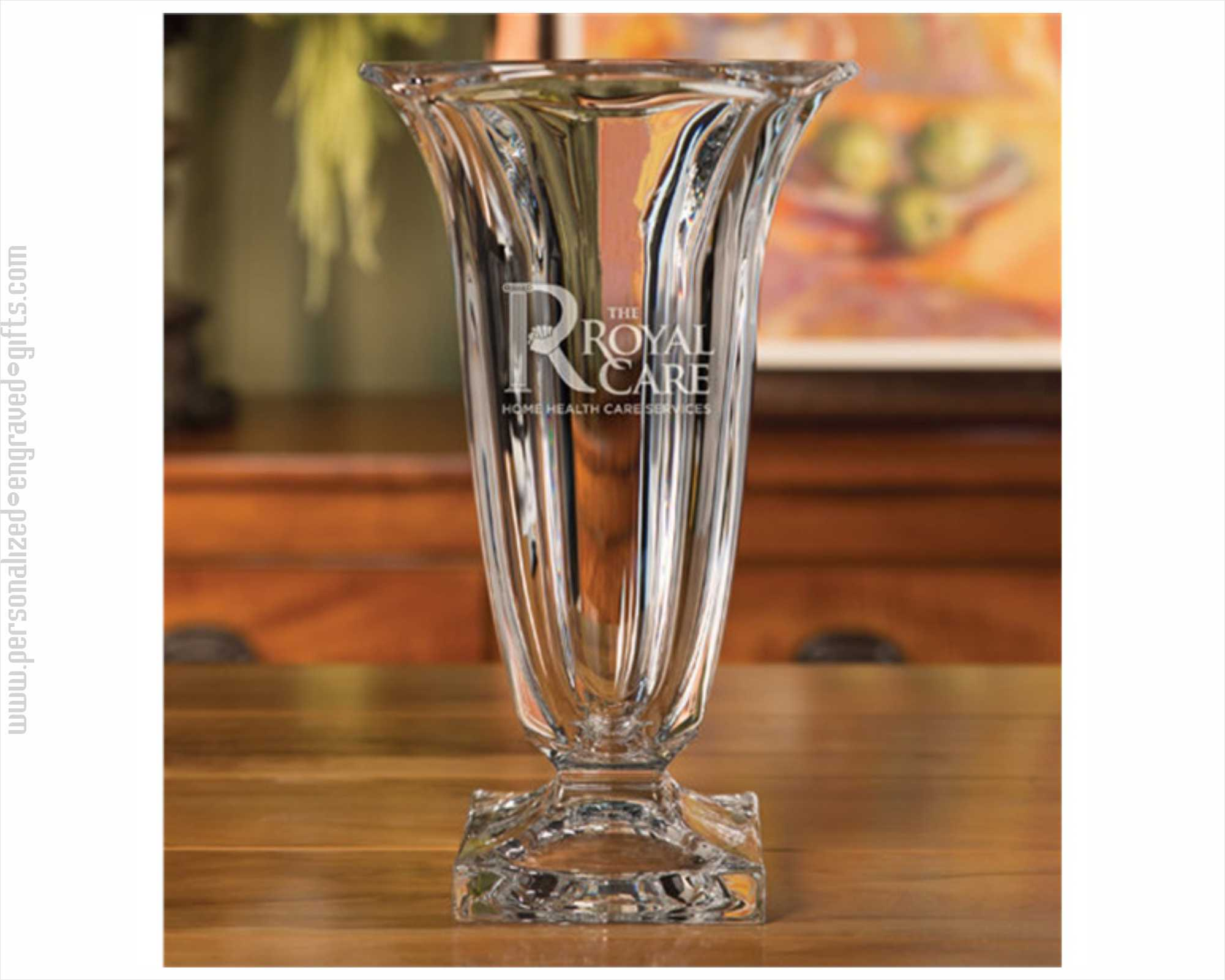 Personalized Engraved Crystal Vase Madrid