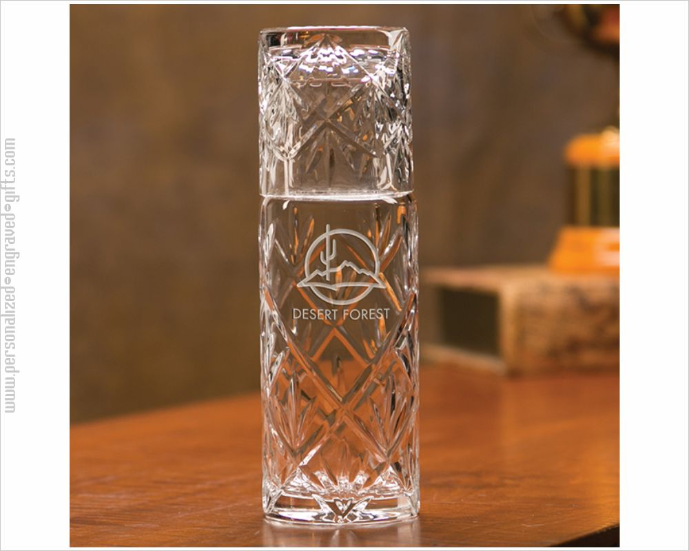 Personalized Engraved 2-Piece 20oz Crystal Water Set - the VP