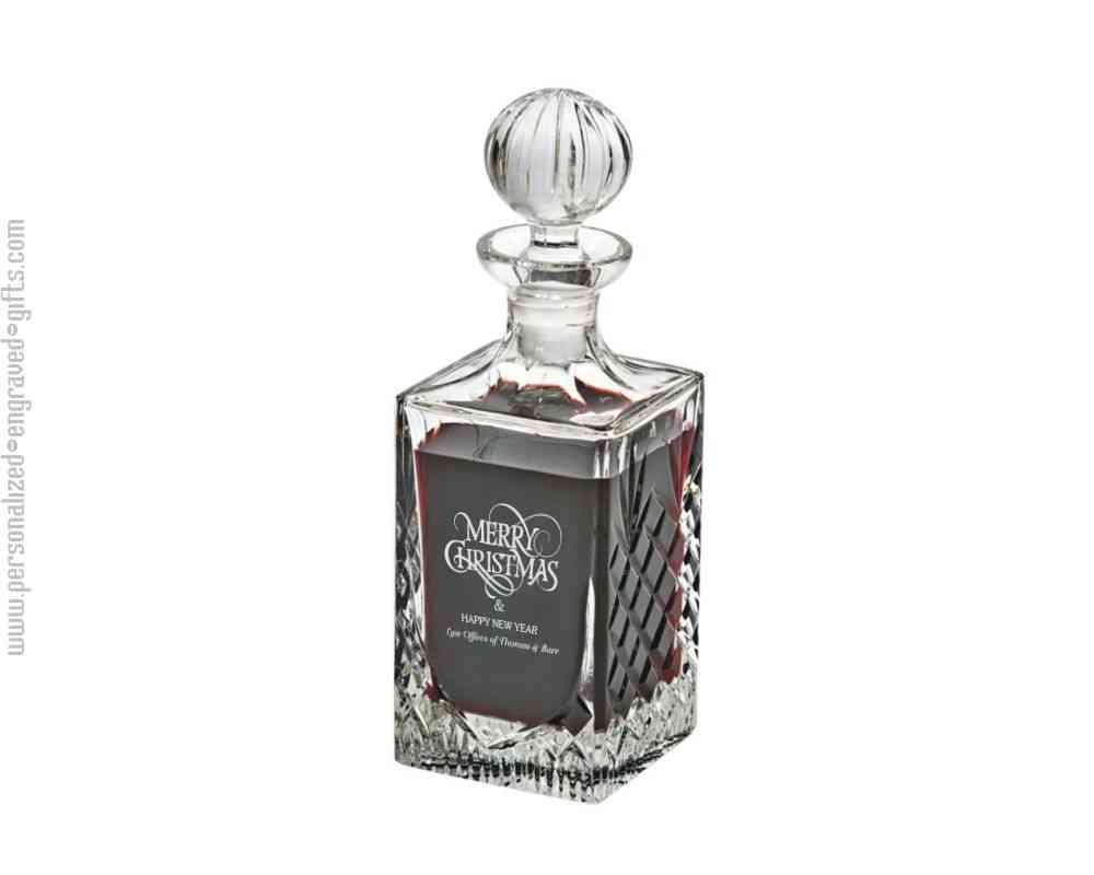 Exceptional Engraved Crystal Decanter, The Desmond