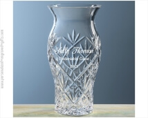Lead Crystal Atelier Vase with Hand Cut Design