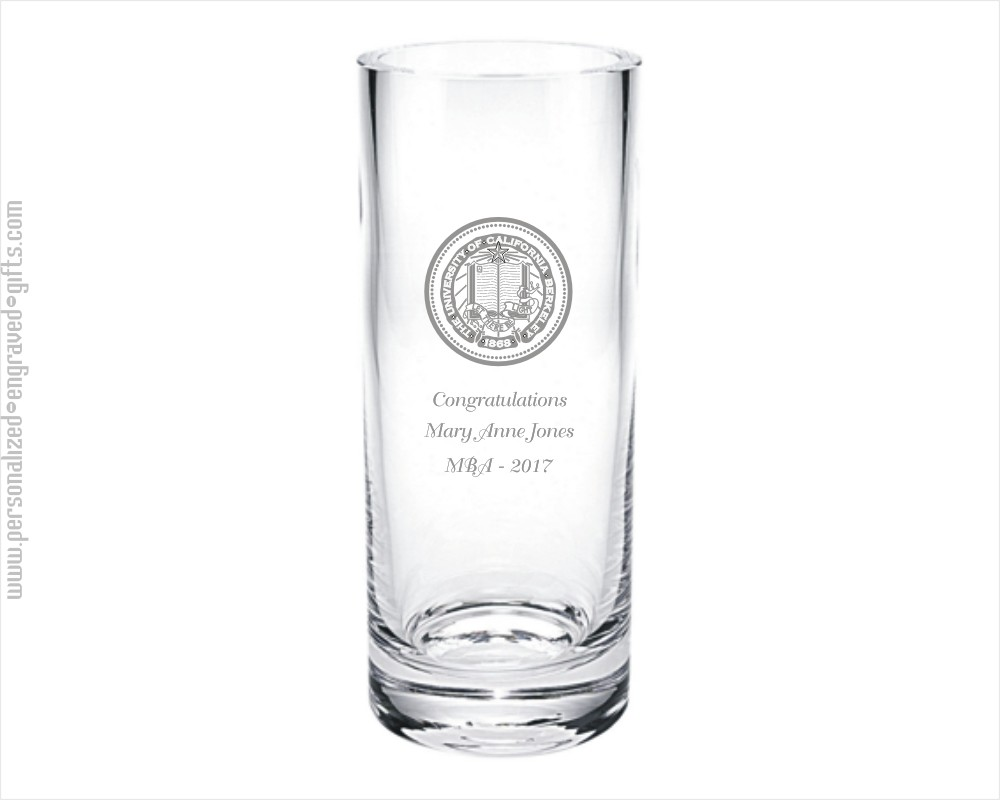 Personalized Straight-Sided 10 inch Glass Vase - The Shelby Graduation